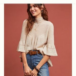 Anthropologie Featherbone Whitby Turtleneck Jumper